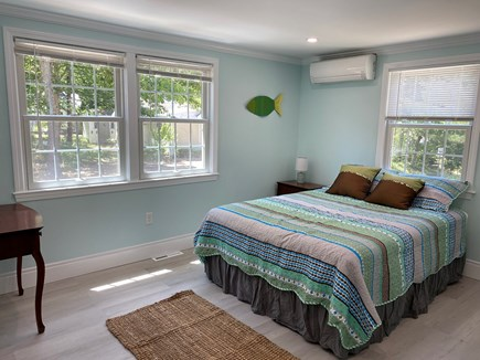 Brewster Cape Cod vacation rental - Queen bedroom with ductless mini-split AC