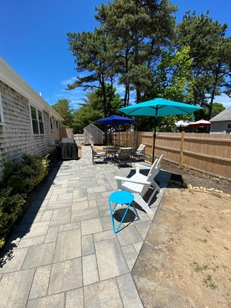 Brewster Cape Cod vacation rental - Fenced-in patio w/gas grill, enclosed outdoor shower, umbrellas