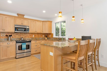 Truro Cape Cod vacation rental - Kitchen with Peninsula Counter offers casual seating