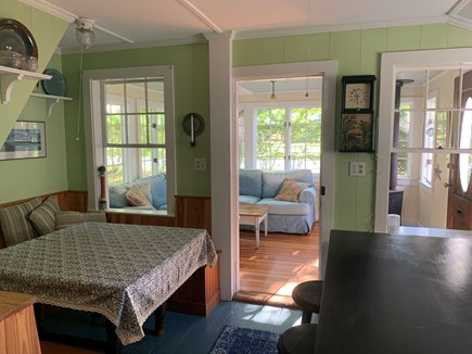 Centerville, Craigville Beach Cape Cod vacation rental - Breakfast nook looking into the sunroom