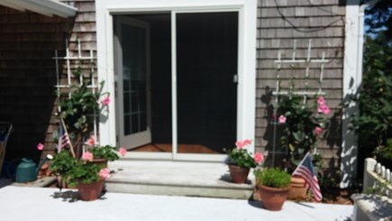Harwich Cape Cod vacation rental - Front side patio