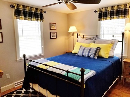 Dennis, Miramar Beach House Cape Cod vacation rental - Second queen bedroom, ceiling fan, large dresser and closet