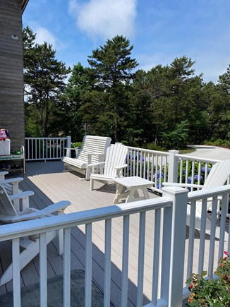 Truro Cape Cod vacation rental - Back deck