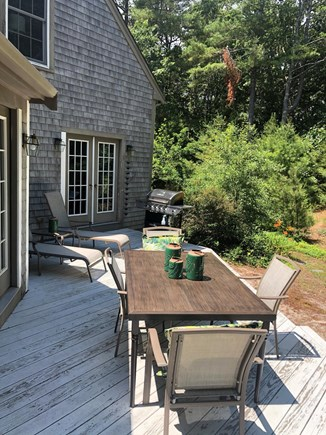 Cotuit Cotuit vacation rental - Back deck off of kitchen & sunroom
