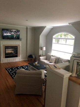 Cotuit Cotuit vacation rental - Main livingroom with gas see through fireplace