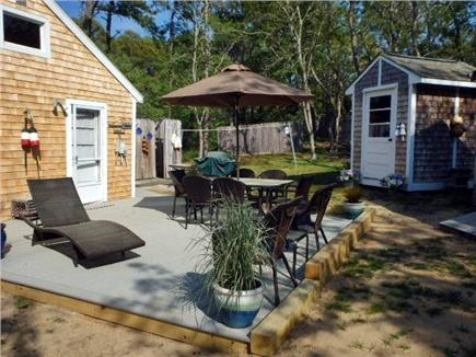 North Eastham Cape Cod vacation rental - Deck area with patio furniture