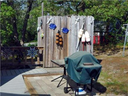 North Eastham Cape Cod vacation rental - Large outside hot and cold shower , also a gas grill