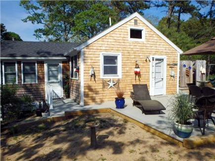 North Eastham Cape Cod vacation rental - Side view. of cottage with deck