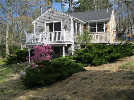 North Eastham Cape Cod vacation rental - Front of Cottage with Deck, table and chairs