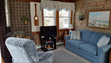 North Eastham Cape Cod vacation rental - Living room with sleep sofa.