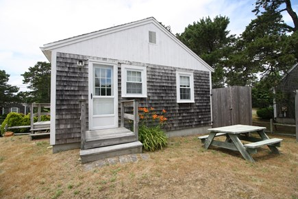 Dennis Port Cape Cod vacation rental - Picnic table and outdoor shower