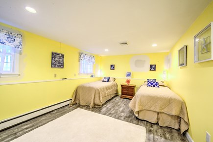 Sandwich, Sagamore Beach Cape Cod vacation rental - Bedroom on lower level with 2 Twins