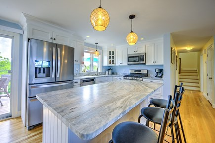Sandwich, Sagamore Beach Cape Cod vacation rental - Kitchen with bar top seating