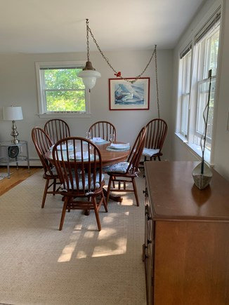 Orleans Cape Cod vacation rental - Dining area (there is an updated ceiling light)