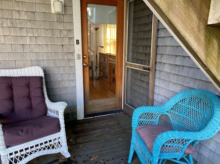 Provincetown, Near the center Cape Cod vacation rental - Seating on porch