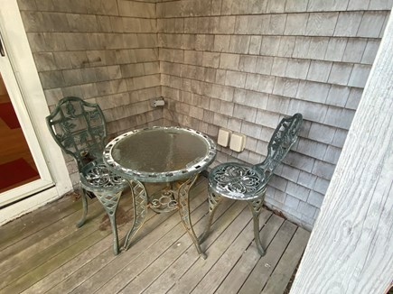 Provincetown, Near the center Cape Cod vacation rental - Seating area in back