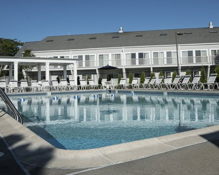 Yarmouth Cape Cod vacation rental - Your condo unit overlooks the two pools and pool side dining