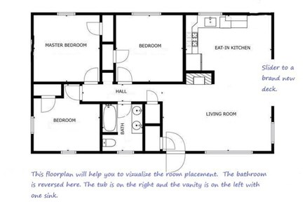West Dennis  Kelley's Pond Cape Cod vacation rental - Floor plan to visualize the layout