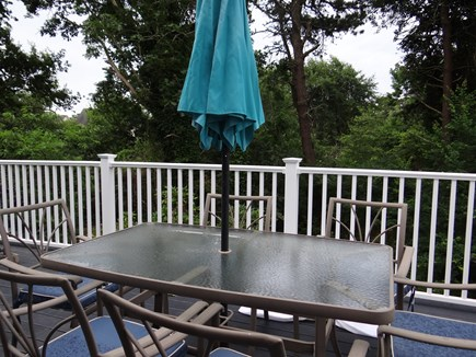 West Dennis  Kelley's Pond Cape Cod vacation rental - New deck overlooking nature filled woodlands..hear the birds sing