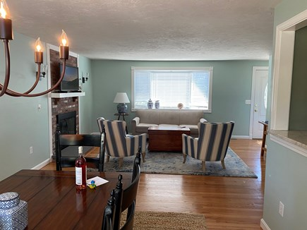 South Chatham Cape Cod vacation rental - Dining and Living room
