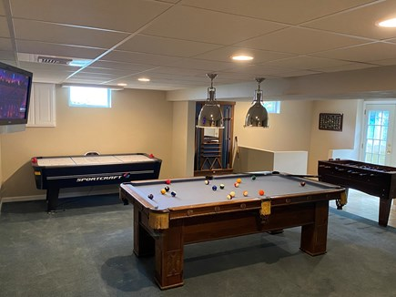 South Chatham Cape Cod vacation rental - Enjoy a game of pool, air hockey, or foosball on a rainy day
