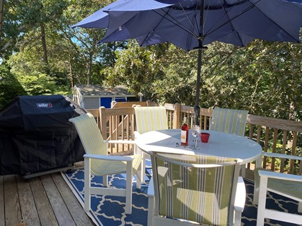 South Chatham Cape Cod vacation rental - Our deck with a grill for your use, my favorite place in a house