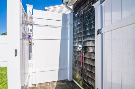Sandwich Cape Cod vacation rental - Enclosed outdoor shower.