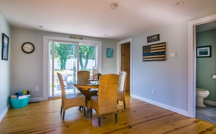 Sandwich Cape Cod vacation rental - Dining area with slider to patio
