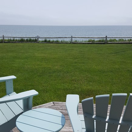 Dennis Port Cape Cod vacation rental - Oceanfront views from the comfort of the deck