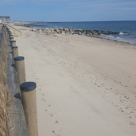 Dennis Port Cape Cod vacation rental - Morning private beach at Dennis Seashores