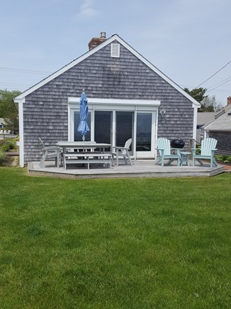 Dennis Port Cape Cod vacation rental - Outdoor dining with a view.  Outdoor shower & charcoal grill.