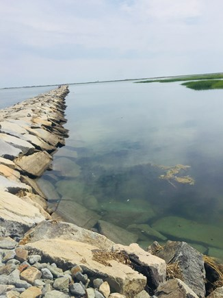 Truro Cape Cod vacation rental - Jetty at high tide