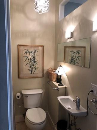 Truro Cape Cod vacation rental - Bath with Deco chandelier and sconces