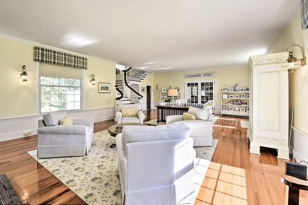 Hyannisport Cape Cod vacation rental - Sun filled living room awaits.
