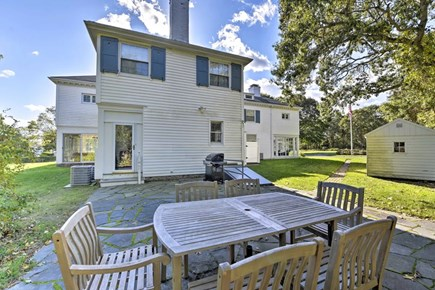 Hyannisport Cape Cod vacation rental - Back patio!  Grill up some good eats and enjoy under the blue sky