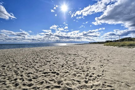 Hyannisport Cape Cod vacation rental - Sandy beach a quick hop, skip and jump from the home.