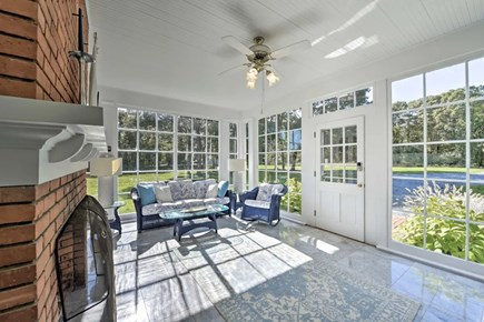 Hyannisport Cape Cod vacation rental - Front porch welcomes you to start your relaxation!