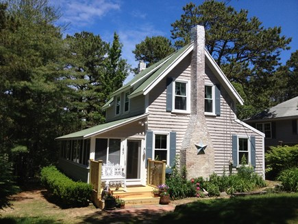 Wellfleet Cape Cod vacation rental - Front Entrance Bountiful Cottage