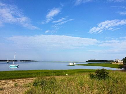 Wellfleet Cape Cod vacation rental - View of the beach from neighborhood path (100 yards walk).