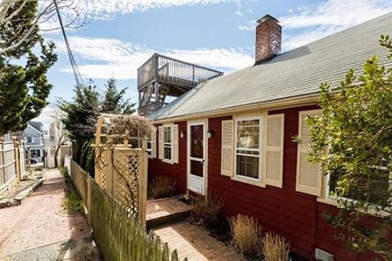 Provincetown, Center of Town Cape Cod vacation rental - Front of house and the deck.