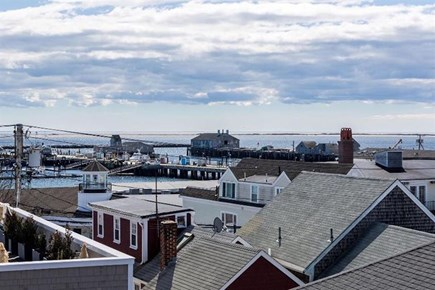 Provincetown, Center of Town Cape Cod vacation rental - View from the deck of the harbor.