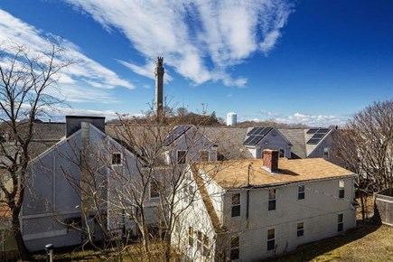 Provincetown, Center of Town Cape Cod vacation rental - View of the Monument from the deck.