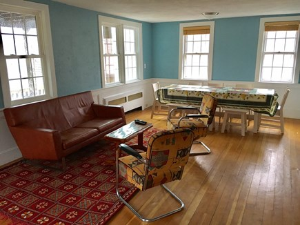 Provincetown, Center of Town Cape Cod vacation rental - Seating area, overlooking dining area.