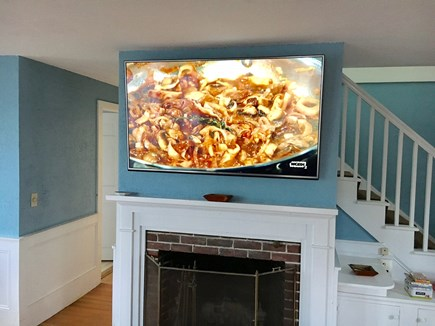 Provincetown, Center of Town Cape Cod vacation rental - Large screen, flat panel TV with cable and Apple TV.