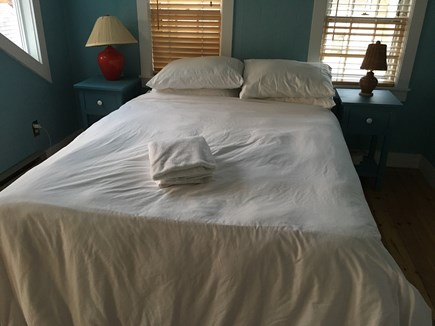 Provincetown, Center of Town Cape Cod vacation rental - Bedroom 1, with a view of the harbour.