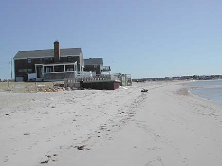 Chatham Cape Cod vacation rental - A View of the House from the Beach