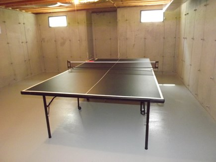 Chatham Cape Cod vacation rental - Ping Pong Table in Unfinished Basement