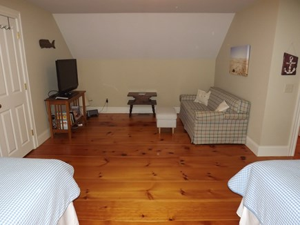 Chatham Cape Cod vacation rental - Sitting Area in Second Floor Bedroom with Two Twins
