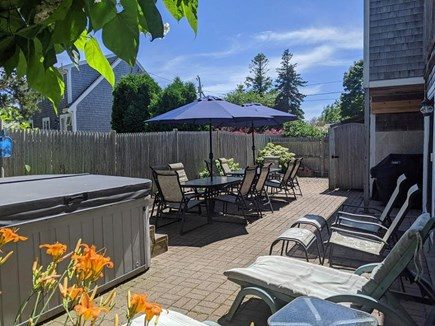 Chatham Cape Cod vacation rental - Patio with Dining Table & Hot Tub