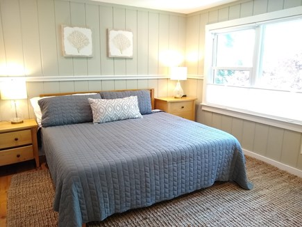 Woods Hole Woods Hole vacation rental - Upstairs Master bedroom w/ king bed, A/C, ensuite bath. Smart TV